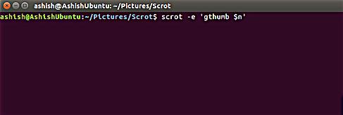 scrot 截屏后运行 gthumb