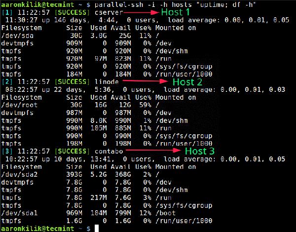 Pssh�D�D在多台Linux服务器上运行命令