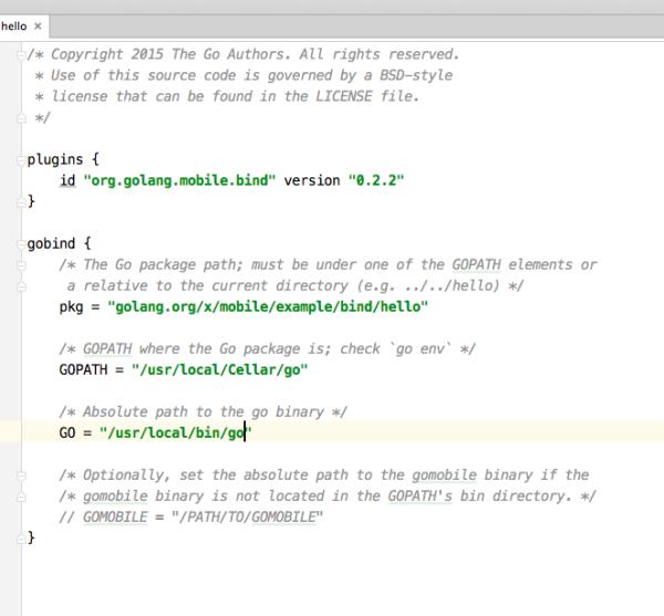 如果使用androidstudio可以导入项目golanginstalldir/src/gola