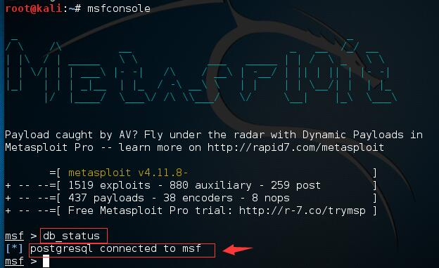 kali linux 2.0下安装ssh和metasploit