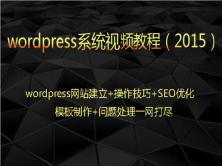 wordpress系统视频课程:wp网站建立SEO优化模板制作问题处理