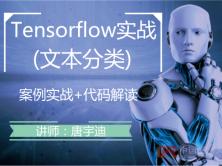 Tensorflow项目实战视频课程-文本分类