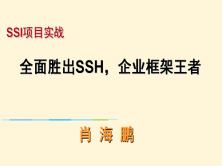 SSI实战: 全面胜出SSH,企业框架王者