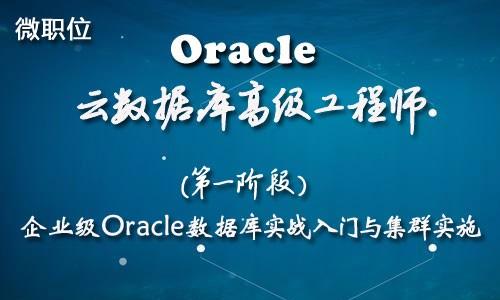 Oracle云数据库微职位-企业级Oracle数据库实战入门与集群实施
