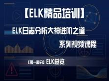 【ELK精品培训】ELK日志分析大神的进阶之道系列视频课程——【第一部分】ELK总览