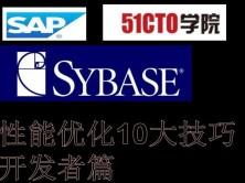 SAP/Sybase 数据库系统性能优化10大技巧 开发篇视频课程