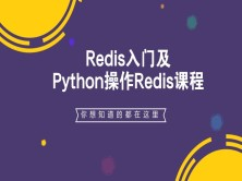 Redis入门及Python操作Redis视频课程