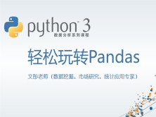 Python数据分析系列视频课程--轻松玩转Pandas【连载】