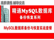 MySQL数据库备份与恢复实战系列(套餐)课程