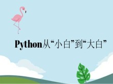 "Python从""小白""到""大白"""