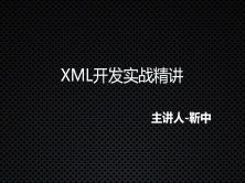 XML开发实战精讲视频课程