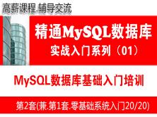 MySQL數據庫基礎入門培訓課程_MySQL數據庫基礎入門與項目實戰01