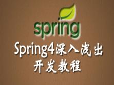 Spring4深入淺出開發視頻教程