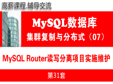 MySQL Router读写分离项目实施与维护_MySQL高可用复制与分布式集群架构07
