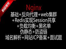 Nginx反代+web集群+负载均衡+Redis实现Session共享+伪静态+防盗链+域名解析