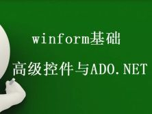 winform基礎-高級控件與ADO.NET視頻課程