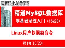 Linux用户权限类命令_MySQL数据库入门必备视频课程15