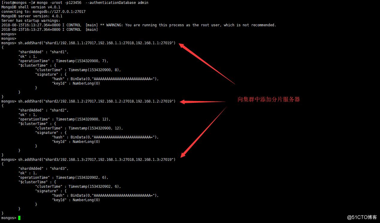 MongoDB分片集群搭建
