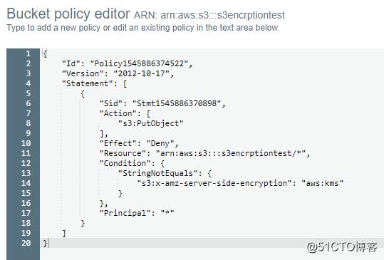 AWS S3 设置 Bucket Policy 强制加密
