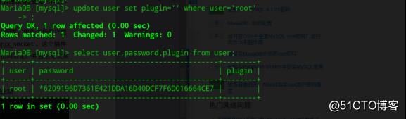 mariadb数据库部分版本修改登录密码后仍能空密码登录问题