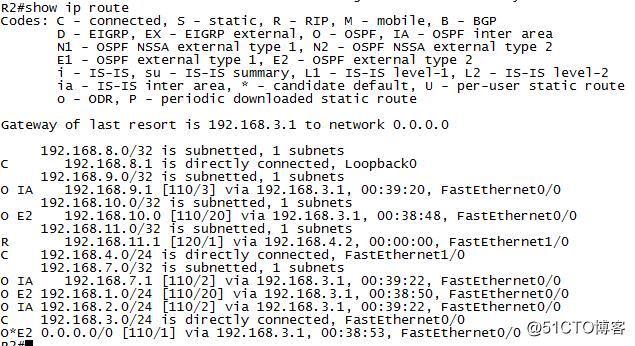 OSPF路由重分发