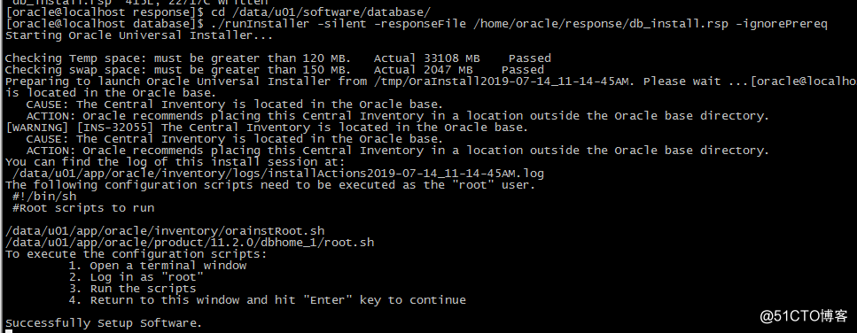 linux CentOS7下快速静默安装Oracle11GR2数据库并创建实例