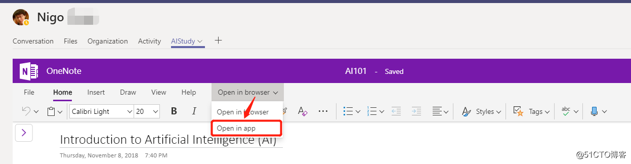 Office 365 使用小技巧_ Microsoft Teams与OneNote集成使用场景