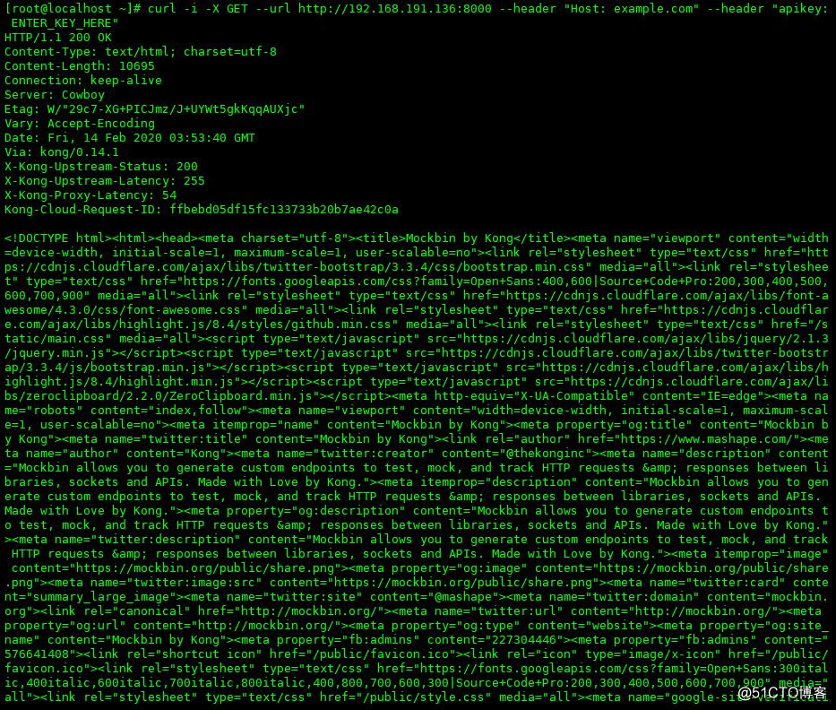 Docker搭建Kong--v0.14-配置Service并添加Key-auth