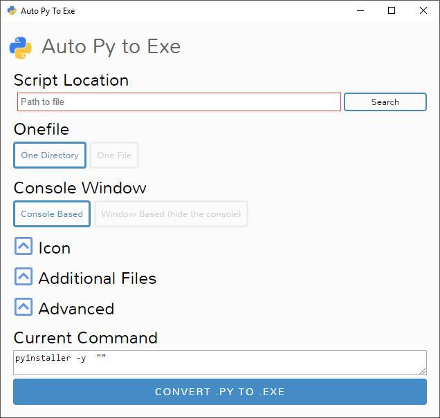 Python开发者小工具,可视化py转exe