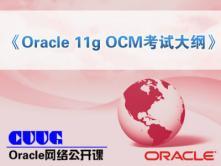 Oracle 11g OCM考试大纲-陈卫星讲师Oracle公开课视频课程